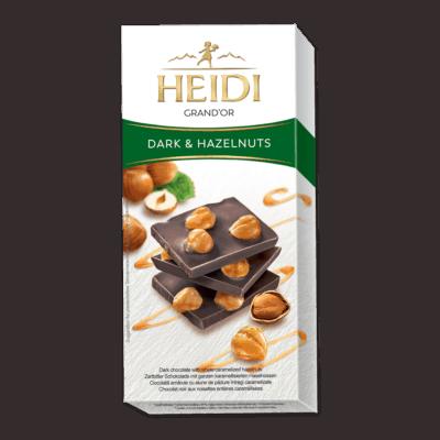 HEIDI Grand'Or dunkle Schokolade & Haselnuss