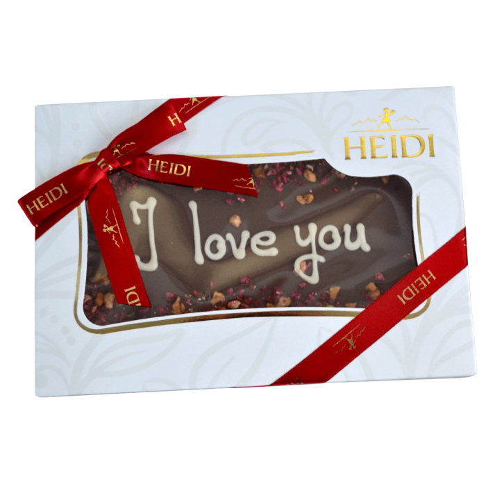 HEIDI Tafel aus Milchschokolade I love you
