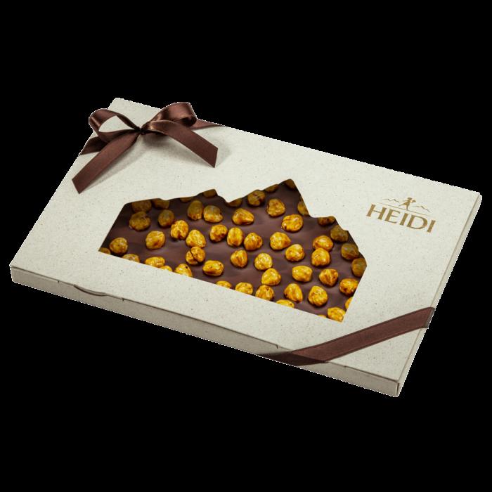 Produktabbildung_HEIDI Milchschokolade mit Haselnüssen in Geschenkverpackung