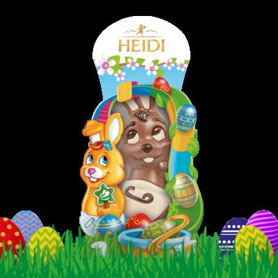 Produktabbildung_HEIDI Baby Hase aus Milchschokolade