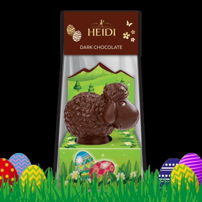 Produktabbildung_HEIDI Schaf aus dunkler Schokolade