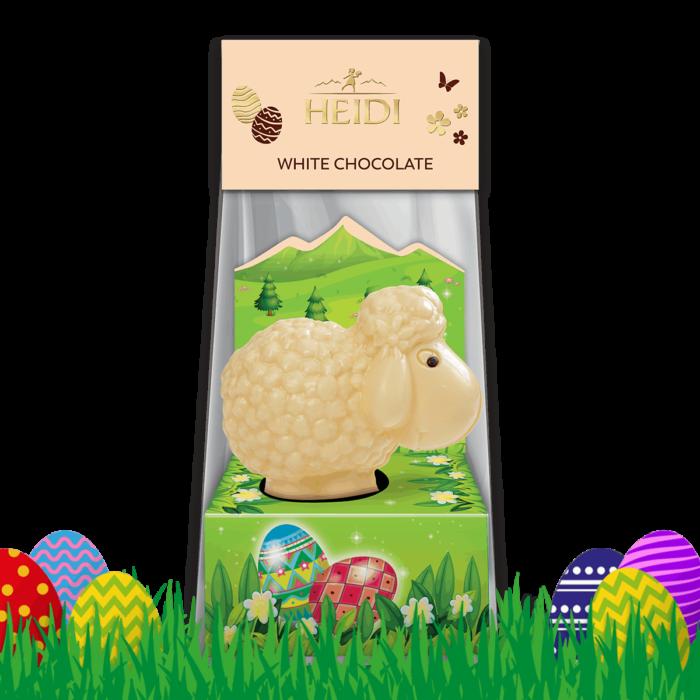 Produktabbildung_HEIDI Schaf aus weißer Schokolade