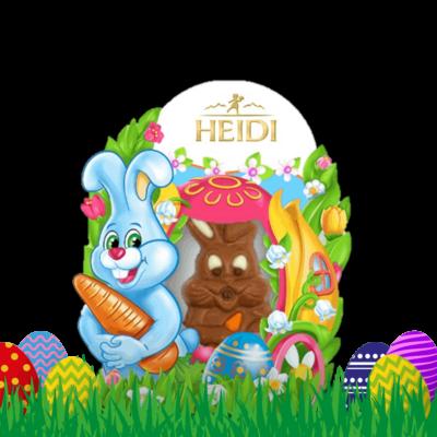Produktabbildung_HEIDI Mini Hase-Milchschokolade mit Pralinenfüllung