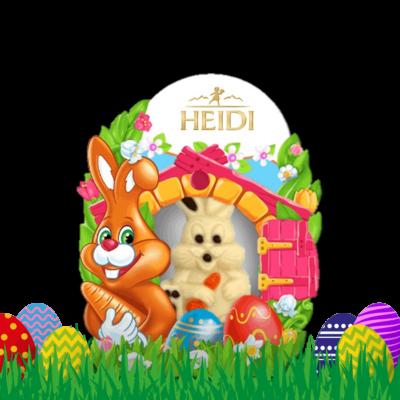 Produktabbildung_HEIDI Mini Hase-weiße Schokolade mit Pralinenfüllung
