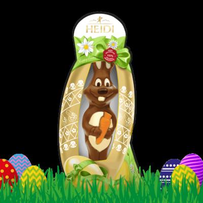 HEIDI Hase mit Karotte aus Milchschokolade