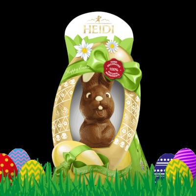 HEIDI Lachender Hase aus Milchschokolade